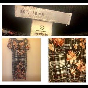 Cato plaid floral dress